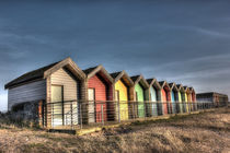 Blyth Beach Huts HDR by Dan Davidson