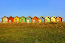 Colourful Blyth Beach Huts von Dan Davidson