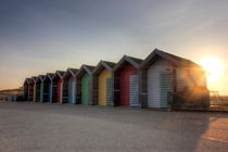 Blyth Beach Huts at Sunset von Dan Davidson