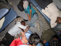 sleeping in the Train by reisemonster