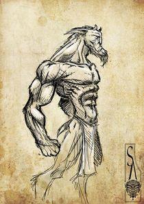 Satyr Sketch by Siddhartha Ahearne