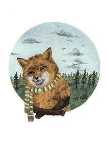 fox tondo by Magdalena Toczydlowska-Talarczyk