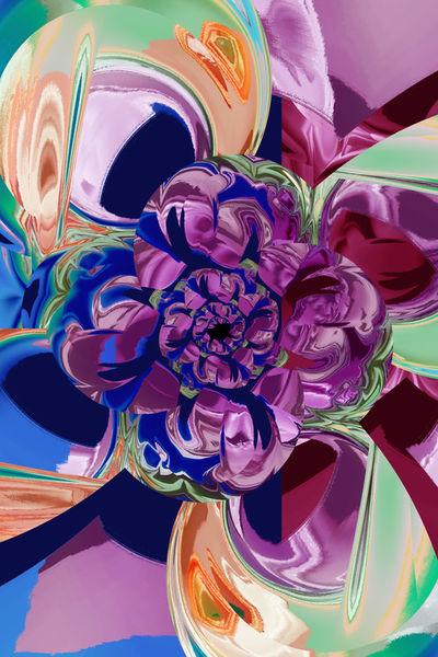 Blume-abstraktbunt