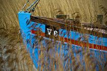 Boat in reed by Arkadius Ozimek