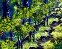 Waldweg by Vera Markgraf