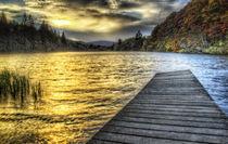 Loch Ard Sunset at the Jetty von Fiona Messenger