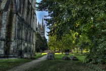 The Cathedral and Graveyard at Peterborough by Fiona Messenger