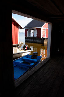 Looking out of a boathouse by Intensivelight Panorama-Edition