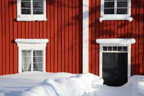 Red house in winter von Intensivelight Panorama-Edition
