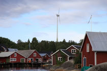 Wind turbines in a fishing village by Intensivelight Panorama-Edition