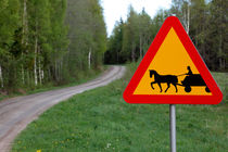 Road sign and country lane by Intensivelight Panorama-Edition