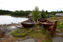 Old wooden rowing boats by Intensivelight Panorama-Edition