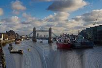 River Thames Waterfall by David Pyatt