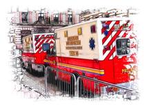 Philadelphia Fire Trucks von Fiona Messenger