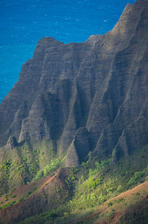 View of Na Pali coast from Waimea Canyon State Park near Waimea on the western side of Kauai Island, Hawaii, USA von Wolfgang Kaehler