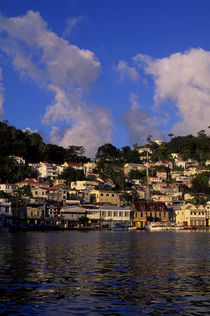 GRENADA, ST. GEORGE'S, CARENAGE HARBOUR, IN EVENING SUNSHINE von Wolfgang Kaehler