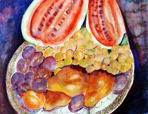 Teller mit Früchten von Irina Usova