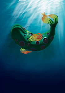 Music fish - painting von Tomáš Kruták