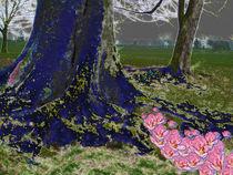 tree in blue velvet by Gayle  Sadler