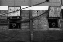 Canons on a tall ship - monochrome by Intensivelight Panorama-Edition