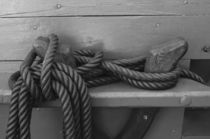 Ropes on a tall ship - monochrome von Intensivelight Panorama-Edition