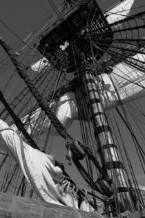 Mast on a sailing ship - monochrome by Intensivelight Panorama-Edition