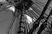 Mast on a tall ship - monochrome by Intensivelight Panorama-Edition