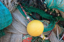 Yellow buoy and fishing nets by Intensivelight Panorama-Edition