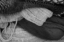 Stacked fishing nets - monochrome by Intensivelight Panorama-Edition