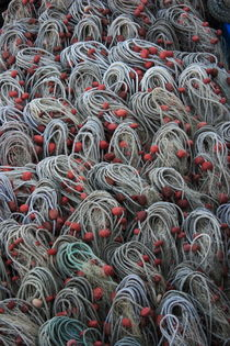 Stacked nets with red floats von Intensivelight Panorama-Edition