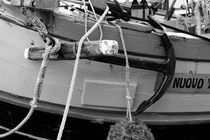 Anchor on an old wooden sailing ship - monochrome von Intensivelight Panorama-Edition
