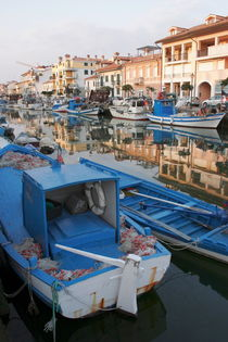 Canal in Grado with fishing boats von Intensivelight Panorama-Edition