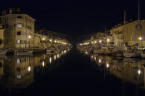 Harbor in Grado at night by Intensivelight Panorama-Edition