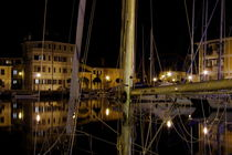 Yacht harbor at night von Intensivelight Panorama-Edition