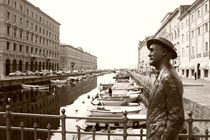 James Joyce in Trieste - monochrome von Intensivelight Panorama-Edition