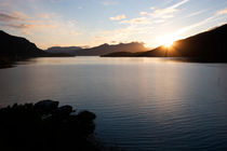 Sunset over Gratangen fjord by Intensivelight Panorama-Edition