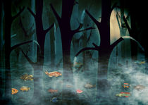 The Woods at Night by Sybille Sterk