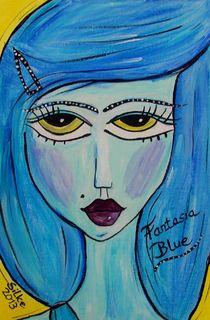"""""""Fantasia Blue"""" von Silke Heil-Sandberg"""