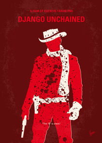 No184 My Django Unchained minimal movie poster by chungkong