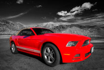 Red Ford Mustang  by Rob Hawkins