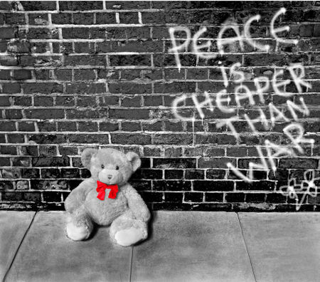 Teddy-bear-against-a-wall-4