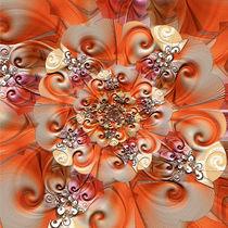 Blumen Relief 2 von Christine Bässler