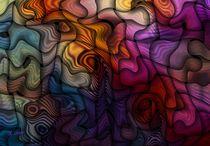 Ein Abstraktes Farb und Formenspiel  von Eckhard Röder