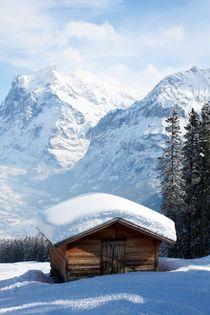 Hütte vor Wetterhorn by Bettina Schnittert