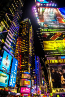 Forty Second Street At Night by Chris Lord