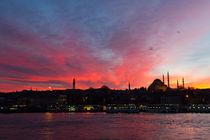 Sunset over Eminonu, Istanbul by Evren Kalinbacak
