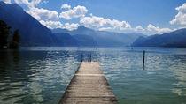 Steg in den See von Günther Lippl