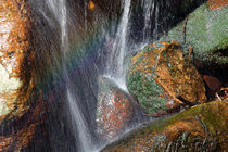 Rainbow over a cascade von Intensivelight Panorama-Edition