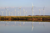 Spiegelung der Windkraftanlage - Mirroring the wind turbine by ropo13