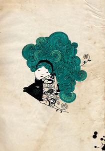 Pisces Girl Zodiac von Kristina  Sabaite